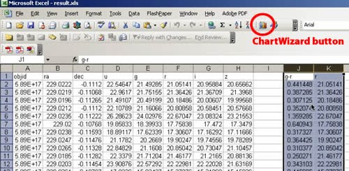 Select the two columns of data