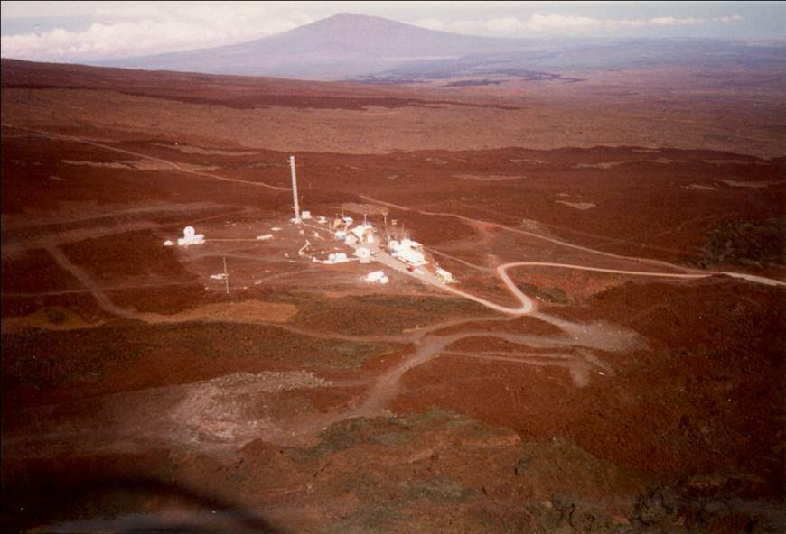 Aerial view of Mauna Loa Observatory