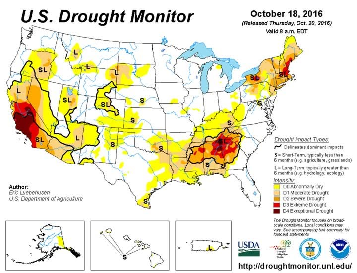 US drought monitor at University of Nebraska, Lincoln