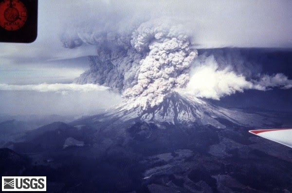 Photo of Mt. St. Helens eruption