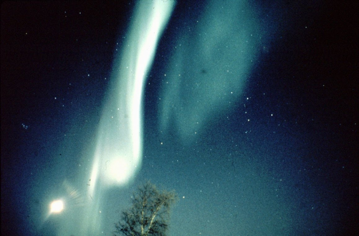 Photograph of the Aurora seen from Norway