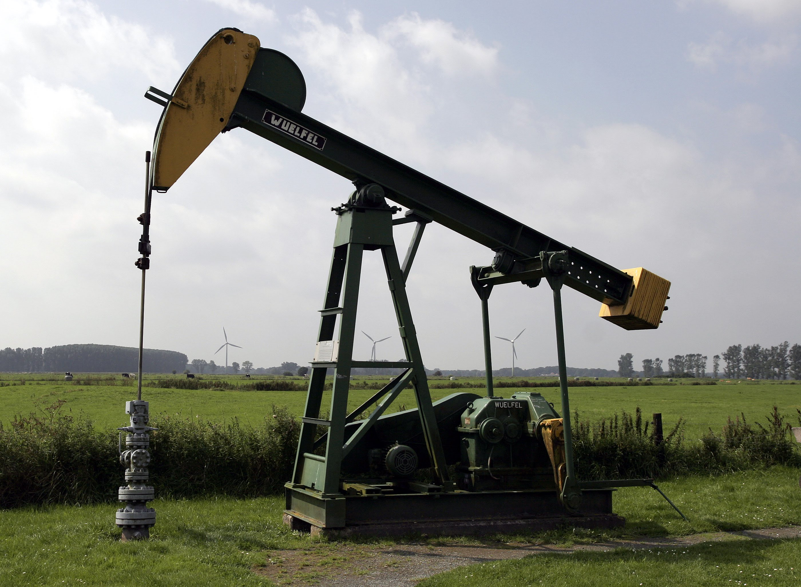 Photograph of an oil well