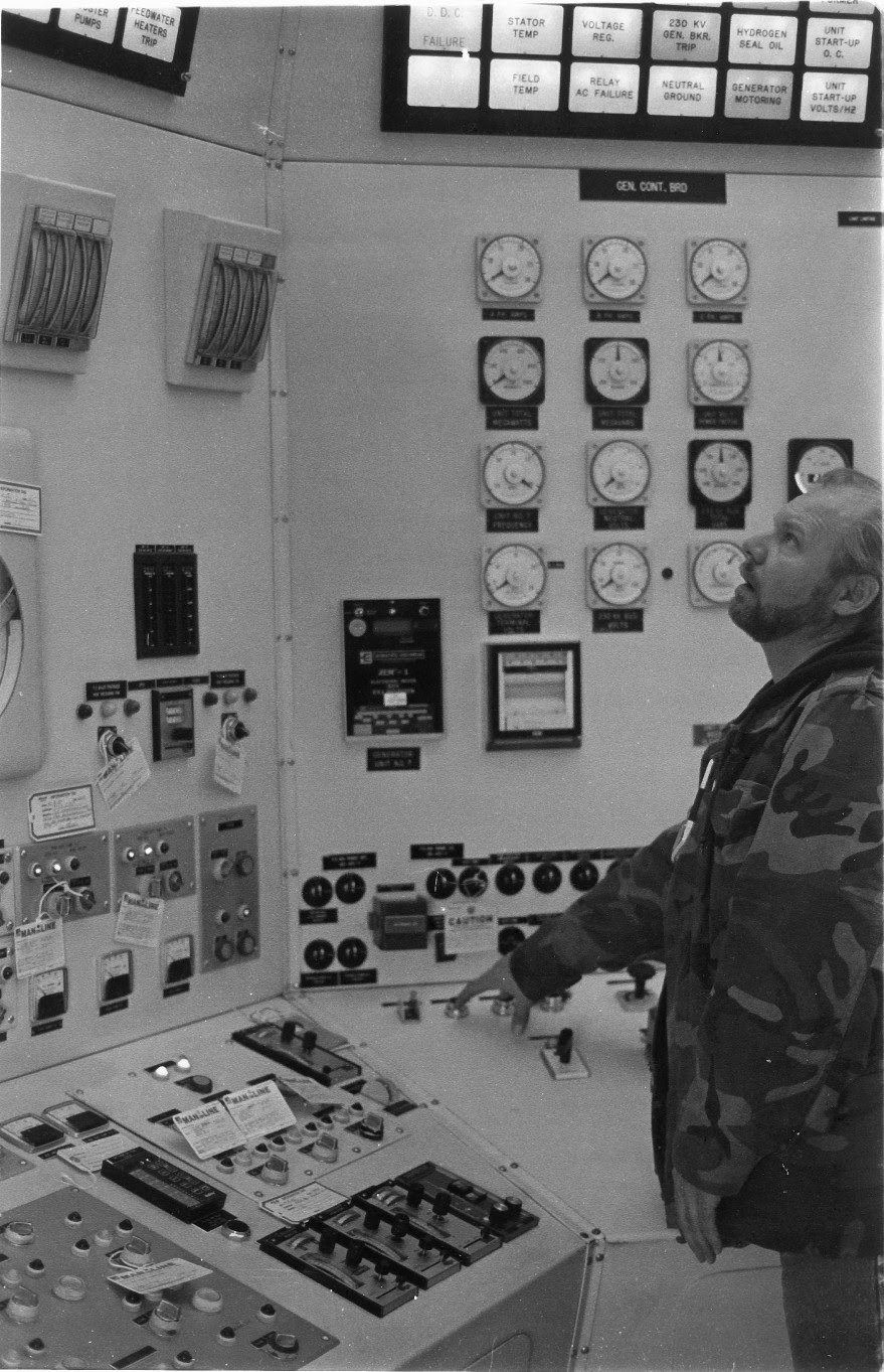 Ron at the control panel