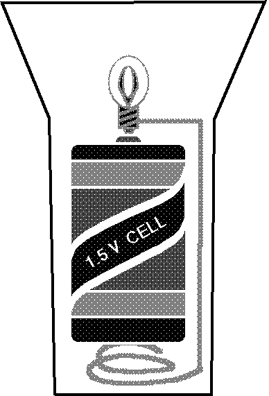 Flashlight with one cell