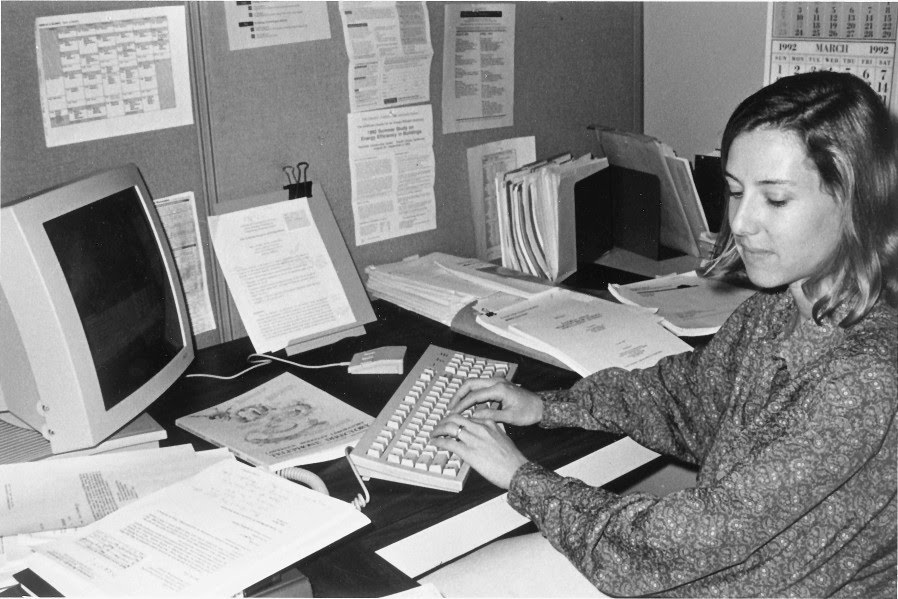 Mary Ann Piete in her office