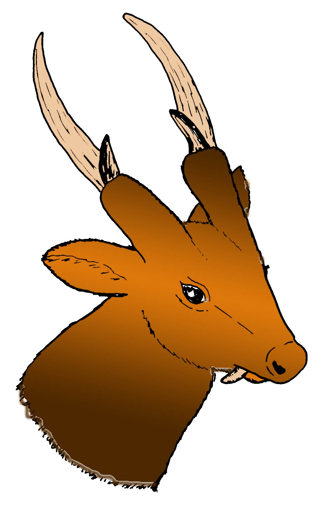 Artist's rendering of a giant Muntjac