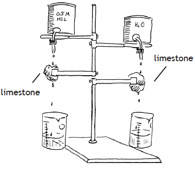 Drawing of the experiment set-up